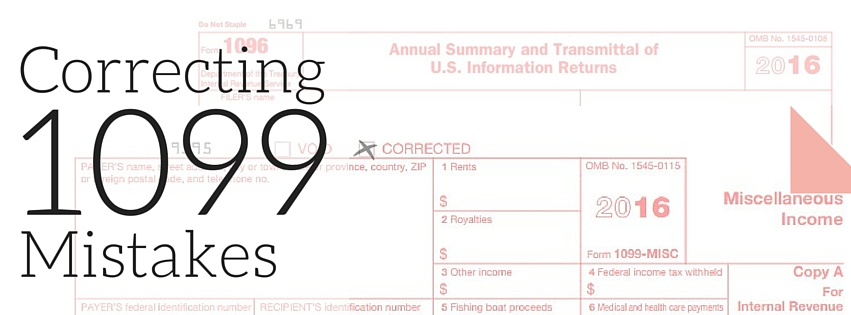 How To Correct A 1099 After The Original Has Been Filed Affordable