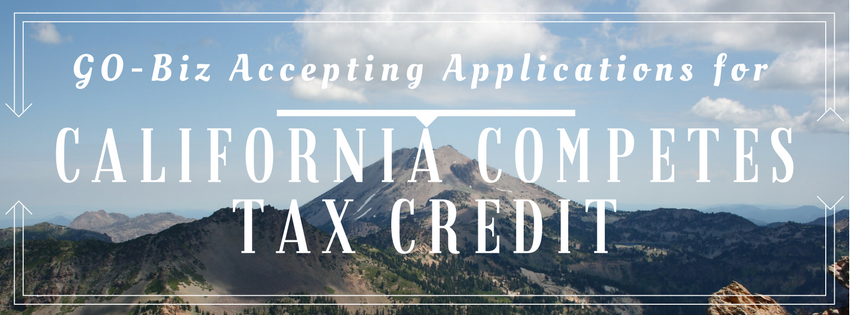 GO-Biz Accepting Applications for California Competes Tax Credit