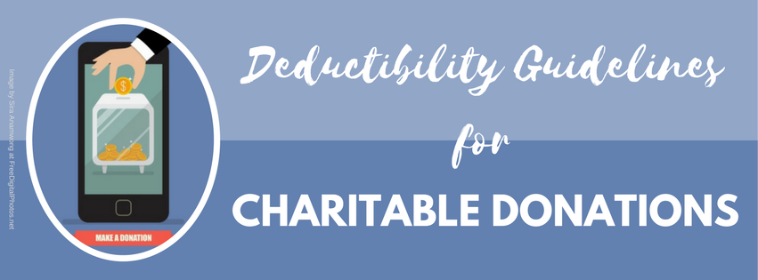 Deductibility Guidelines for Charitable Donations