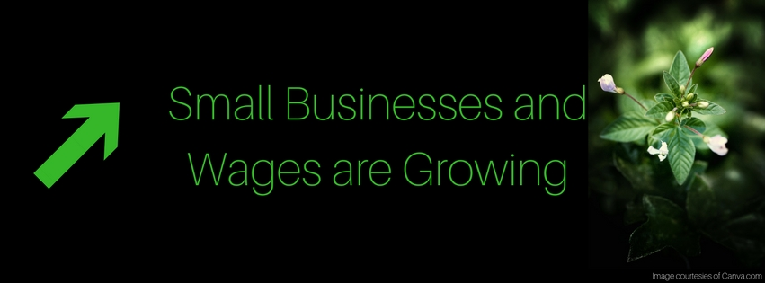 Small Businesses and Wages are Growing
