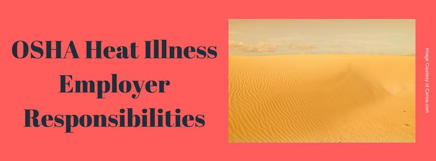 OSHA Heat Illness Employer Responsibilities