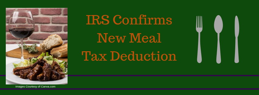 IRS Confirms New Meal Tax Deduction