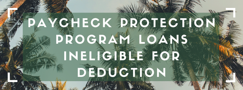 Paycheck Protection Program Loans Ineligible for Deduction